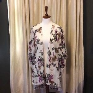 Floral open Kimono